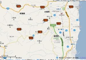 富岡町のダムマップ