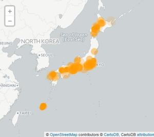 訪日外国人から発信されているSNS投稿と投稿場所のイメージ